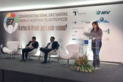 Cristiane Pantaleão participa do 27º Congresso Nacional das Santas Casas e Hospitais Filantrópicos