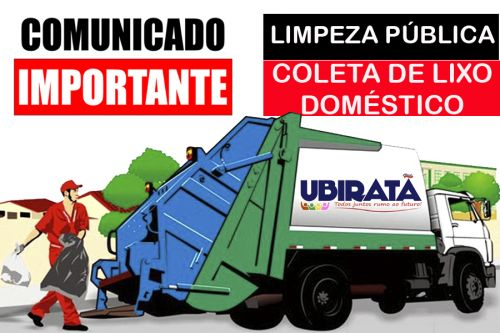 Secretária de Serviços Urbanos comunica que estará realizando os serviços essenciais como a limpeza pública e a coleta de lixo doméstico