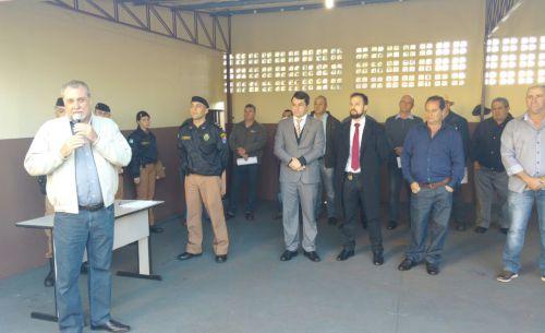 2ª Companhia da PM faz homenagem a policiais aposentados e ato solene de hasteamento de bandeira nacional