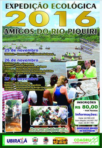 Expedição Ecológica 2016 acontece de 25 a 27 de novembro