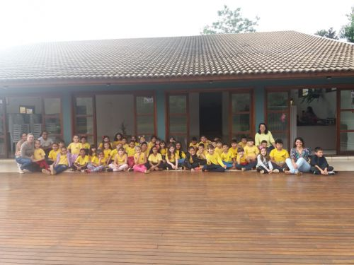 Semana de atividades com alunos sobre meio ambiente no Parque do Lago