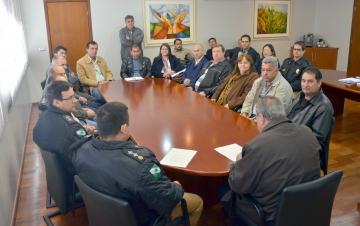 O encontro com o comandante do 11º BPM aconteceu no gabinete do prefeito Haroldo Fernandes Duarte