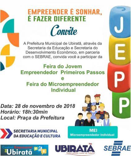 Feira de empreendedorismo acontece nesta quarta-feira em Ubiratã