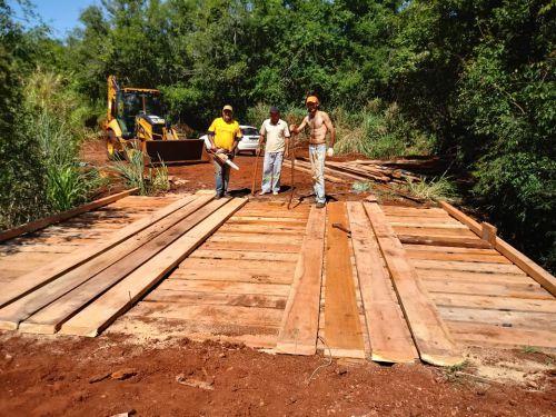 Concluído trabalhos de recuperação da ponte sobre o Rio Carajá