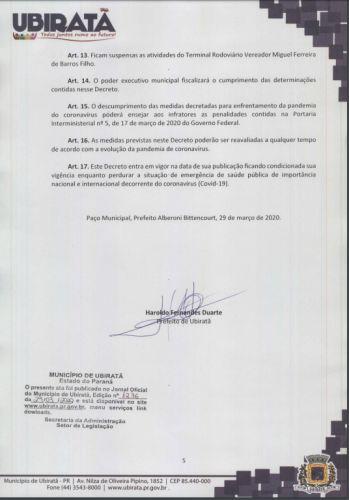 Prefeitura atualiza decreto, adota medidas adicionais de enfrentamento a pandemia de Coronavírus e alerta que será intensificada fiscalização