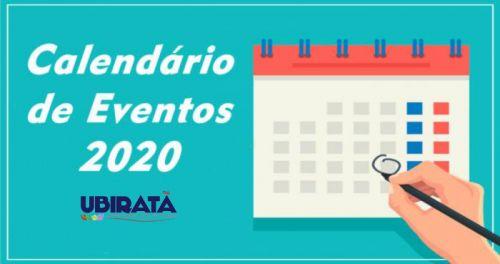 Calendário Oficial de Eventos do Município 2020