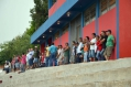 Mesmo com chuva alguns torcedores foram até o Claudinão prestigiar a equipe de Ubiratã