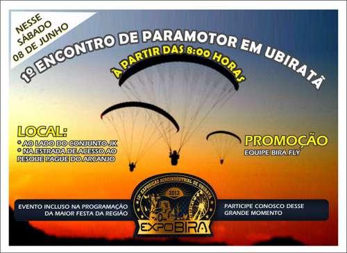 Neste sábado acontece o 1º Encontro de Paramotor em Ubiratã