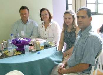 Prefeito Fábio D´Alécio e a 1ª dama Luciane acompanhados do chefe de Gabinete Osmar Pires da Silva e esposa