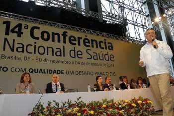 Ministro da Saúde, Alexandre Padilha, discursou na abertura da conferência
