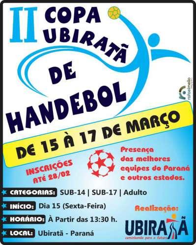 2ª Copa Ubiratã de Handebol tem início hoje