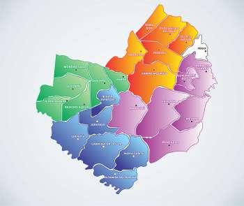 Região foi dividida em 4 microrregiões com seis municípios em cada uma delas; Fênix até o momento não aderiu ao Condescom