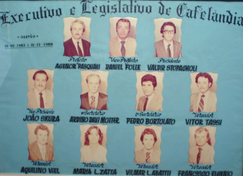 Executivo e Legislativo de Cafelândia 1983-1988