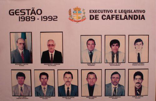 Executivo e Legislativo de Cafelândia 1989-1992