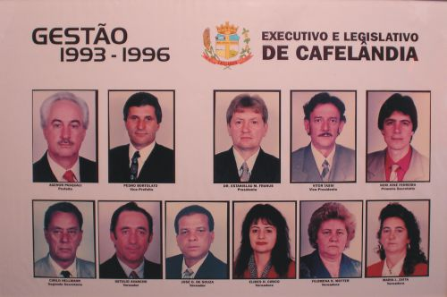 Executivo e Legislativo de Cafelândia 1993 - 1996