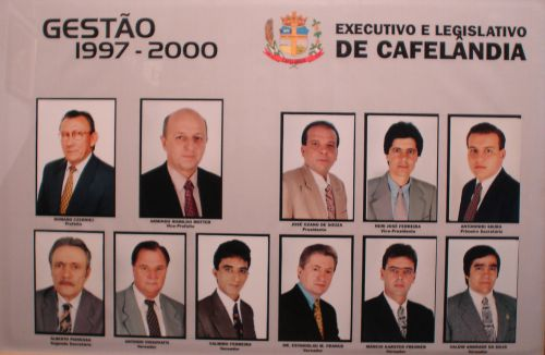 Executivo e Legislativo de Cafelândia 1997 - 2000