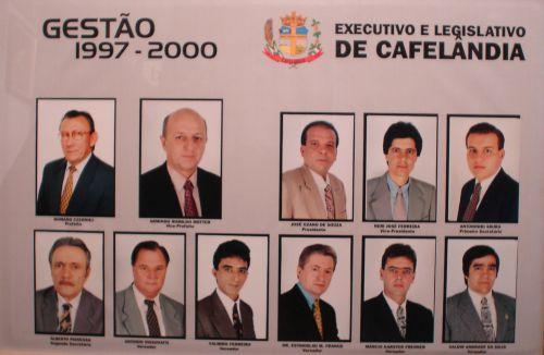 Executivo e Legislativo de Cafelândia 1997 - 2000