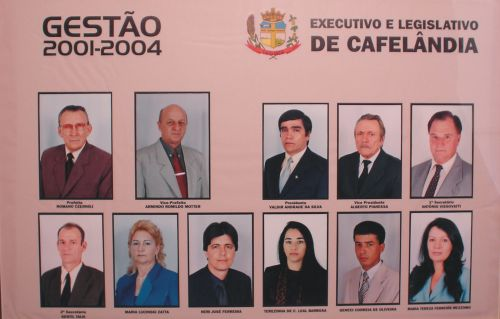Executivo e Legislativo de Cafelândia 2001 - 2004
