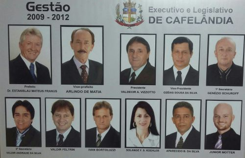 Executivo e Legislativo de Cafelândia 2009 - 2012