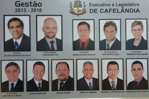 Executivo e Legislativo de Cafelândia 2013 - 2016