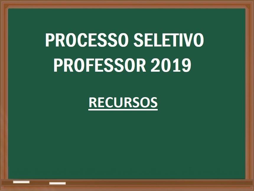 RECURSOS - Processo Seletivo para Professor