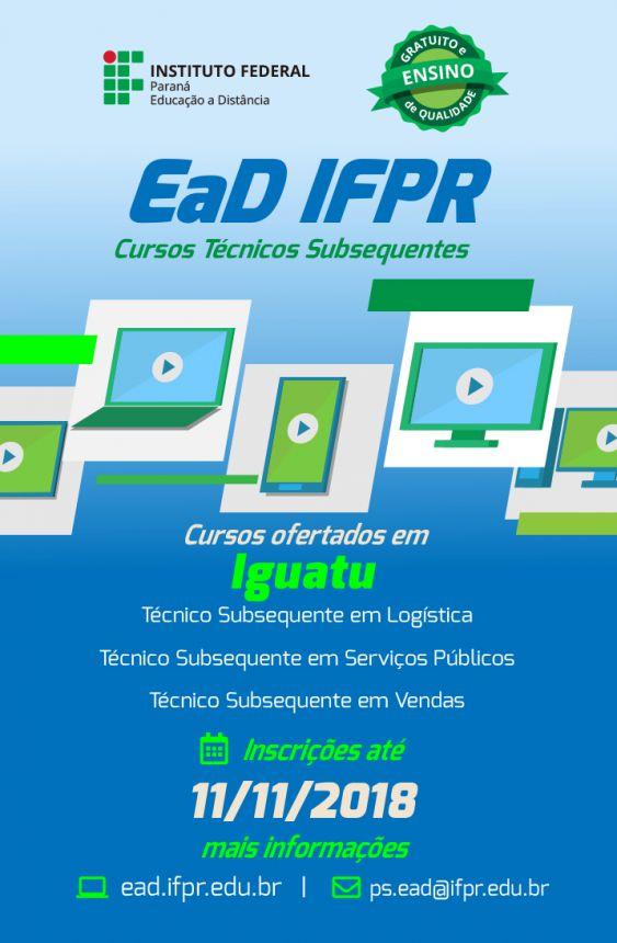 ESTÃO ABERTAS AS INCRIÇÕES PARA O CURSO TÉCNICO DO IFPR-INSTITUTO FEDERAL DO PARANA