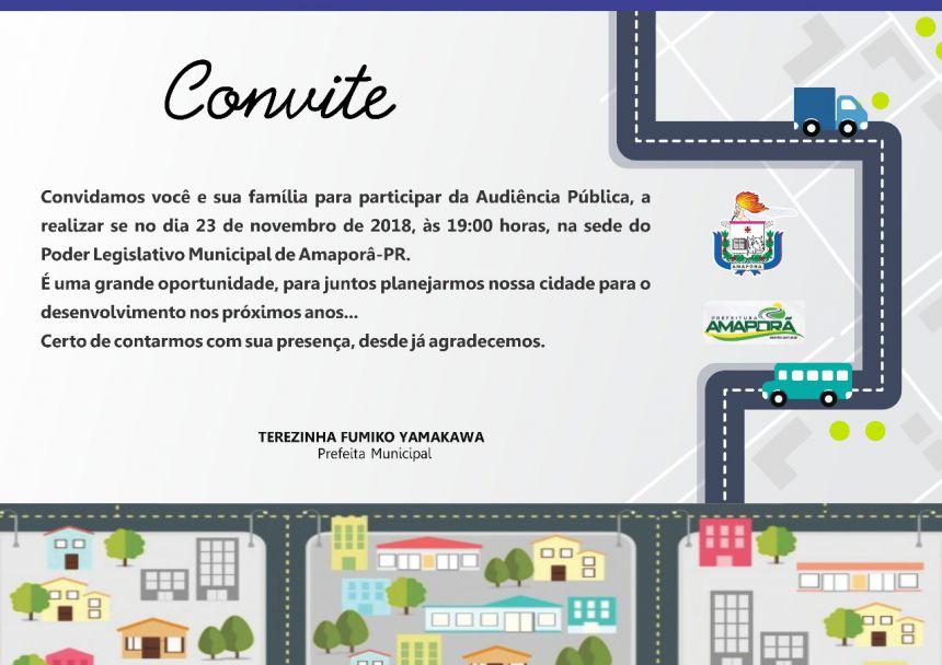 Convite Audiência Pública