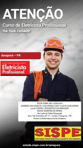 Curso de Eletricista Profissional abre inscrições esta semana em Amaporã