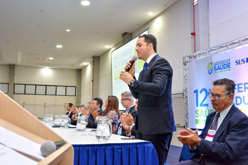 Cerimônia de abertura da 12ª Conferência Estadual de Saúde -PR.