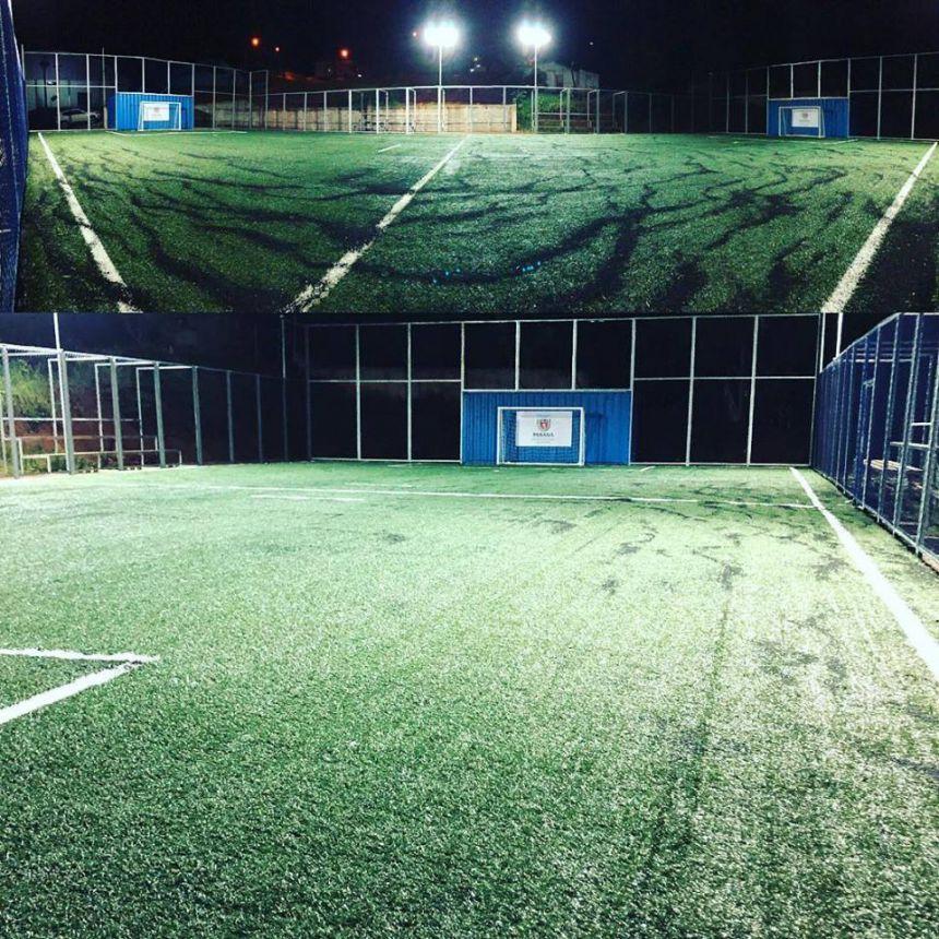 Está marcado Inauguração Mini Arena.