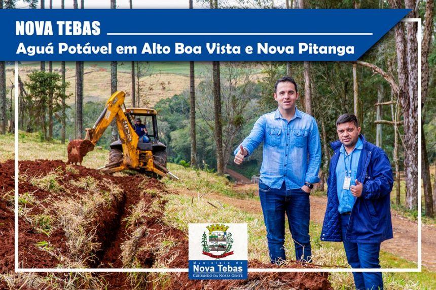 Implantação de rede de distribuição de água nas comunidades