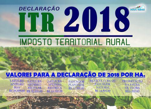Declaração ITR - 2018