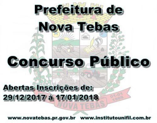 Prefeitura lança Edital Concurso Público.