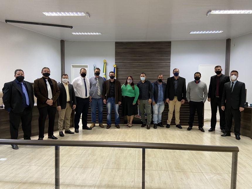Câmara de Manoel Ribas recebe a visita de Vereadores de Santa Maria do Oeste