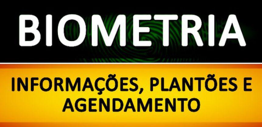 Agendamento Biometria - Biometria - Agendamento e Plantões