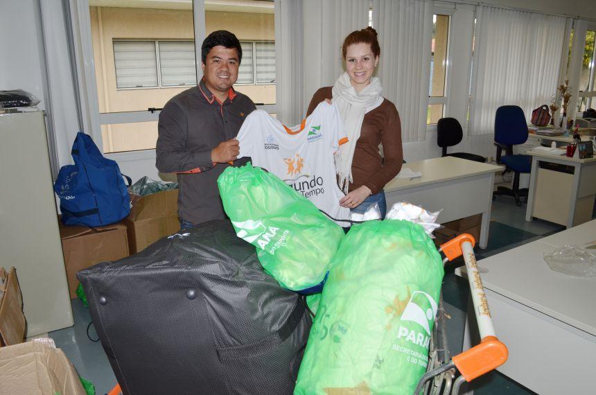 Secretária de estado do Esporte entrega materiais para São João do Ivaí