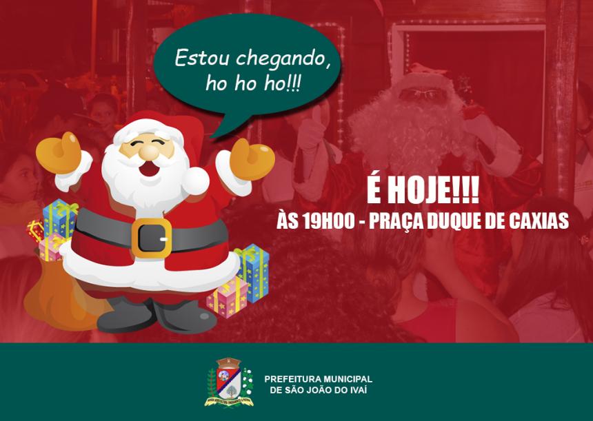 Papai Noel chega hoje em São João do Ivaí