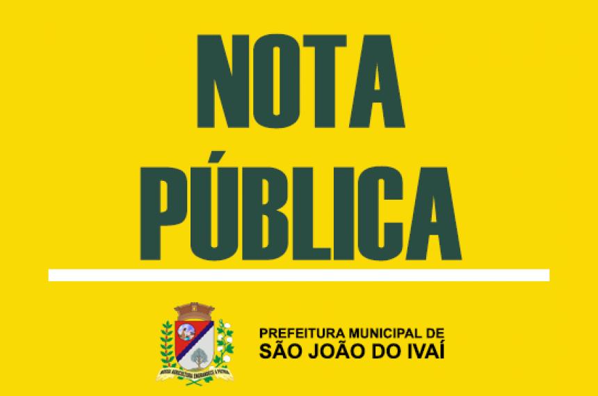 NOTA PÚBLICA - SUSPENSÃO NO FORNECIMENTO DE CARNE BOVINA