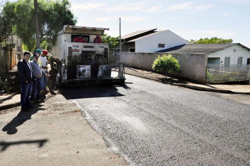 Prefeitura de São João do Ivaí revitaliza pavimentação no Conj. Celso Carlos Paulista