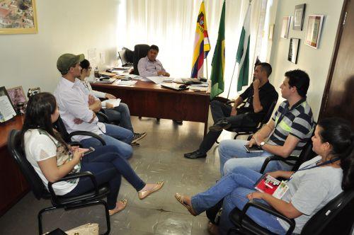 Equipe do IBGE visita prefeito para discutir dados coletados no Censo Agropecuário 2017