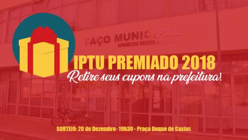 Prefeitura começa entregar cupons da promoção IPTU Premiado 2018