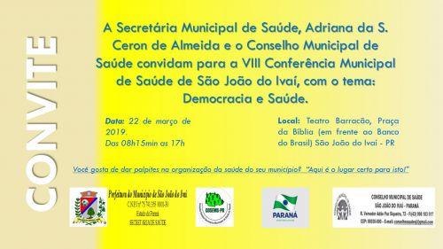 População de São João do Ivaí é convidada a debater saúde pública