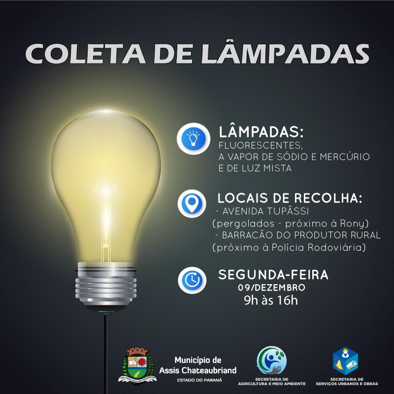 Coleta de lâmpadas acontece segunda-feira em Assis