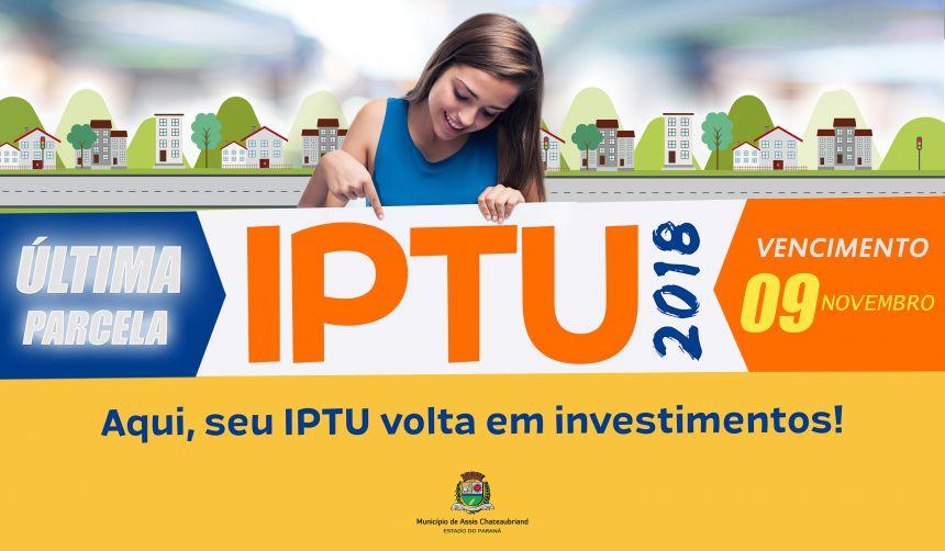 IPTU 2018: Última parcela vence sexta-feira