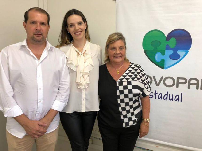 Marcel e Franciane Micheletto buscam apoio do Provopar para projetos sociais