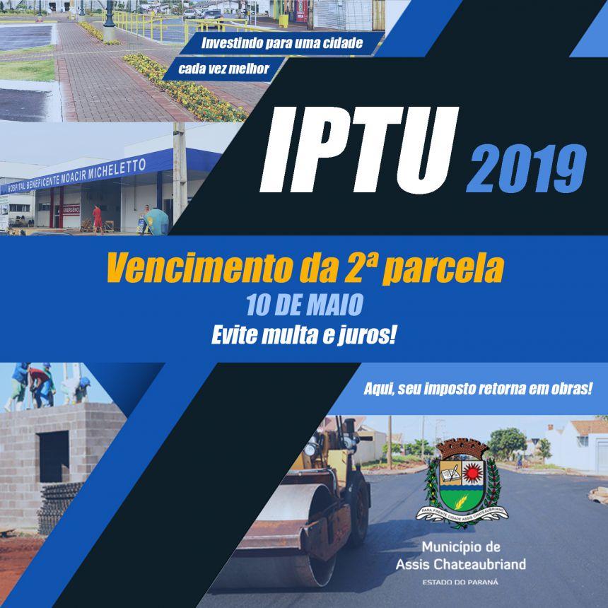 Prazo para pagamento da 2ª parcela do IPTU vence nesta sexta
