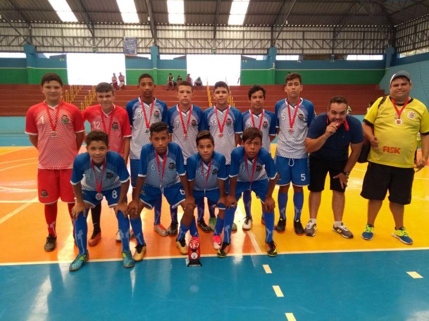 Futsal da categoria infantil é vice-campeão regional