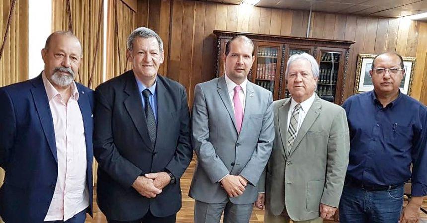 Pegoraro e Micheletto se reúnem com presidente do Tribunal de Contas