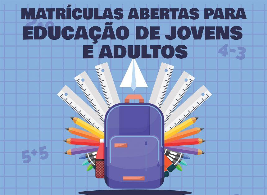 Secretaria de Educação abre matrículas para Educação de Jovens e Adultos