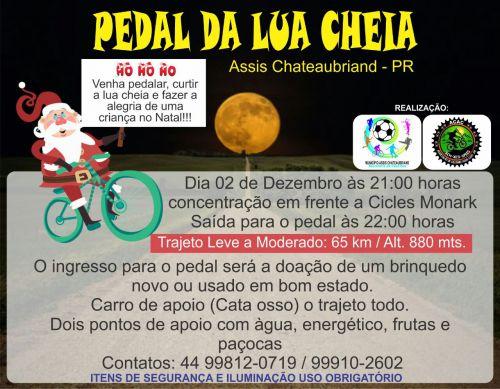 Pedal da Lua Cheia irá movimentar a noite deste sábado em Assis Chateaubriand